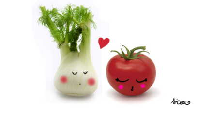 celeri et tomates